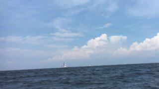 遠くに見える風の塔