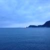 積丹半島の海から見る日の出